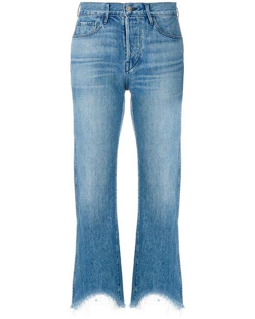 3x1 | Blue Austin Cropped Jeans | Lyst