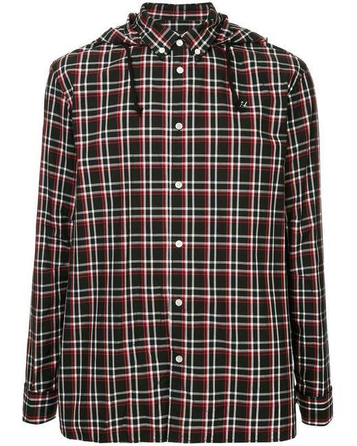 efb2e4d7 Undercover - Black Checked Hooded Shirt for Men - Lyst ...