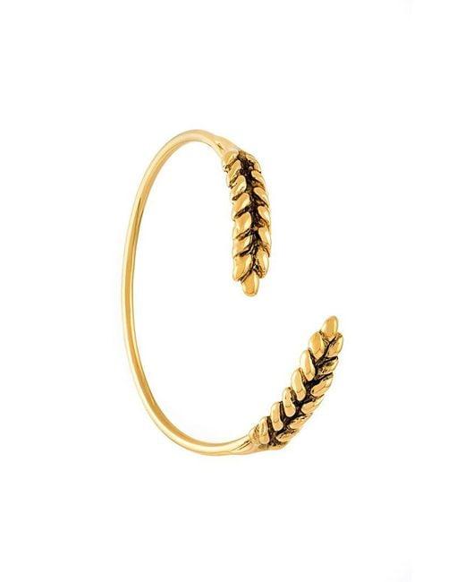 Aurelie Bidermann - Metallic 'wheat' Open Bracelet - Lyst