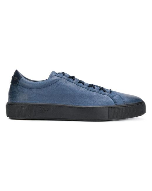 Tod's branded side lace-up sneakers - Black EP4CoDmb