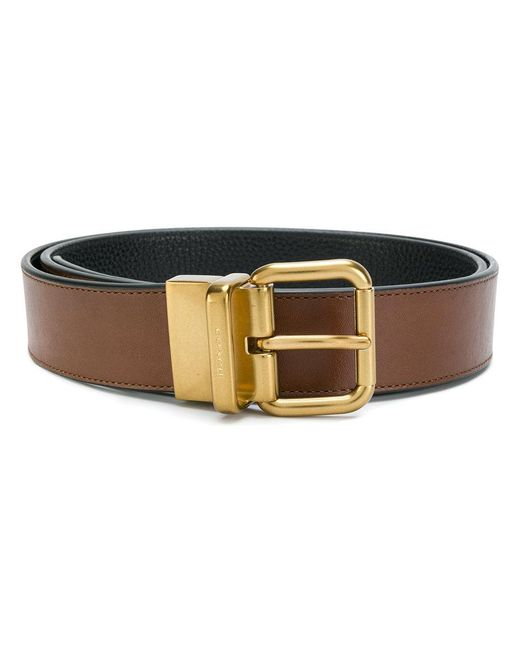 COACH | Brown Classic Belt for Men | Lyst