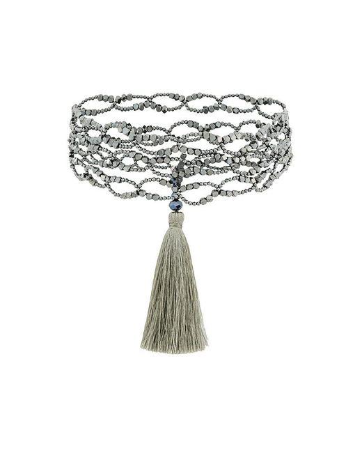 Night Market - Metallic Tassel Detail Necklace - Lyst