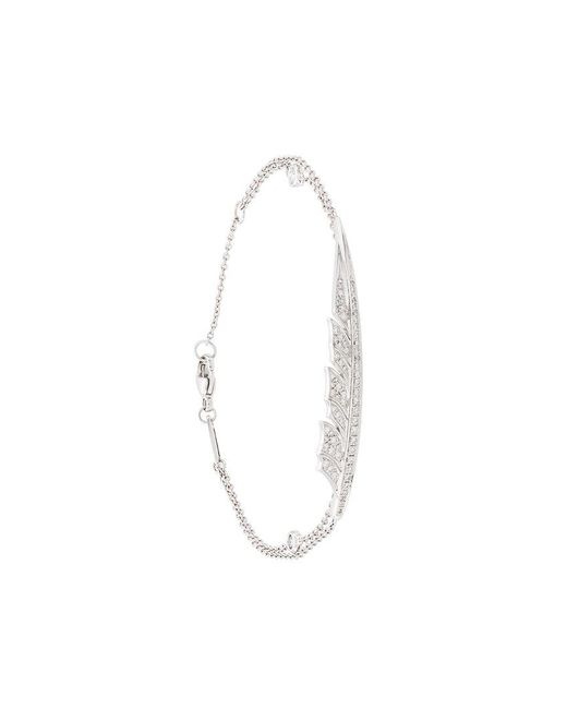 Stephen Webster - Metallic 18kt White Gold Diamond Feather Bracelet - Lyst