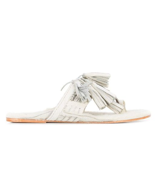 Figue - White Fringed Sandals - Lyst