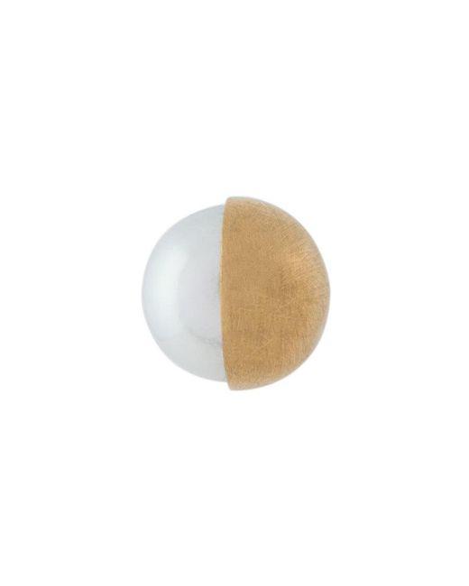 Shihara - Metallic Orecchino Con Perla - Lyst