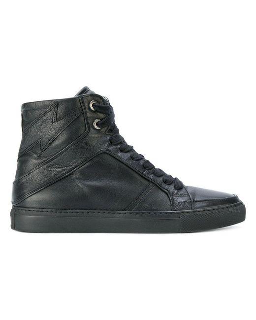 Zadig & Voltaire | Black Sneakers Alte 'high Flash' | Lyst