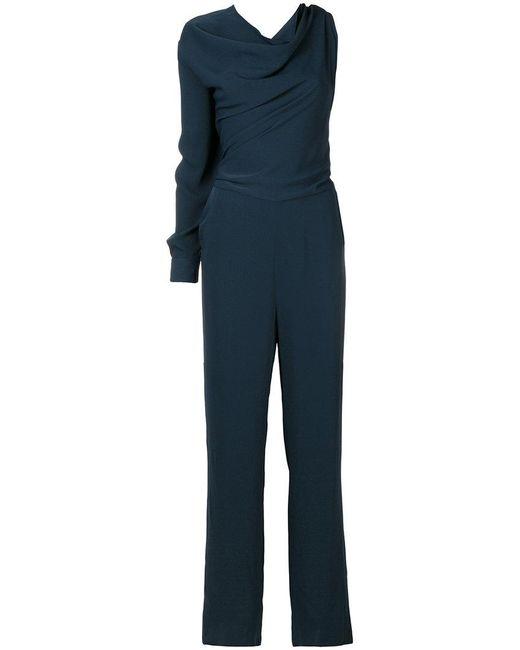 MM6 by Maison Martin Margiela - Blue Single Sleeve Drape Neck Jumpsuit - Lyst
