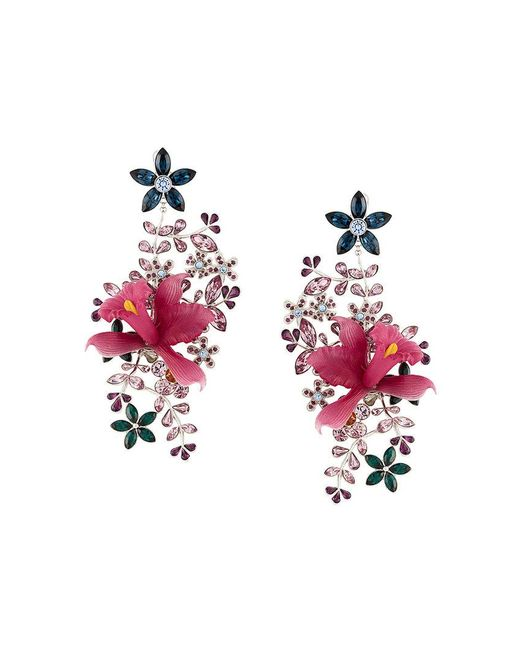 DSquared² | Pink Floral Earrings | Lyst