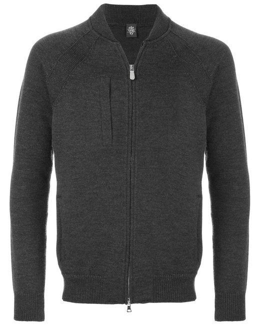 Eleventy - Gray Zipper Sweater for Men - Lyst