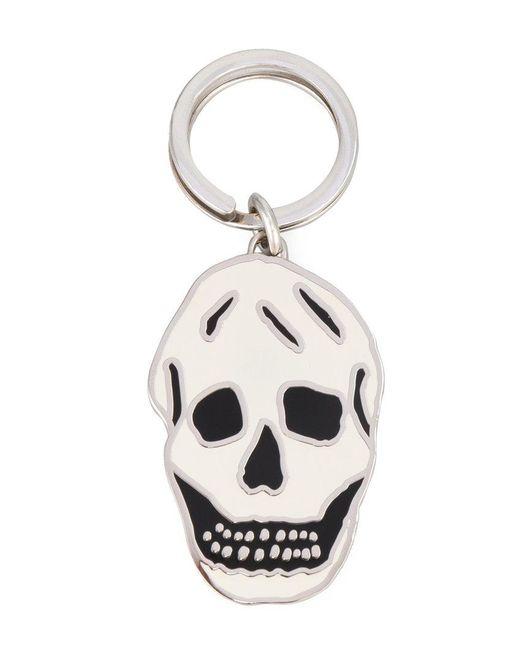 Alexander McQueen   Metallic Skull Keyring   Lyst