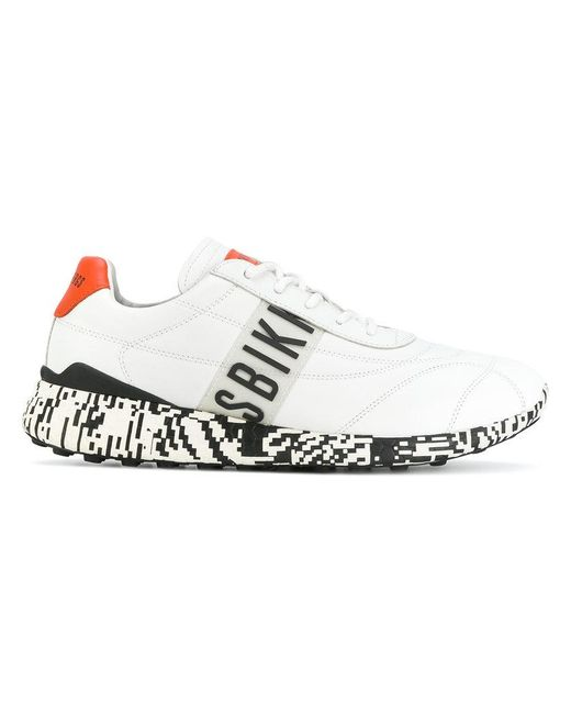 Dirk Bikkembergs | White Contrast Heel Sneakers for Men | Lyst