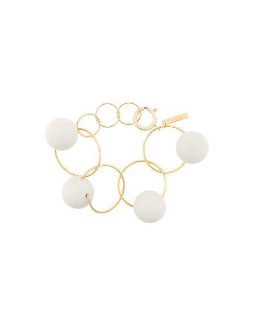 Marni   Metallic Orb Hoop Bracelet   Lyst