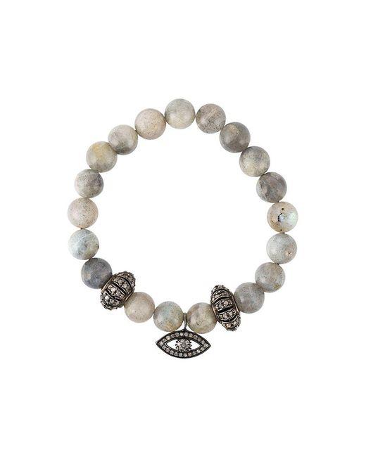 Gemco - Gray Bead Diamond Charm Bracelet - Lyst