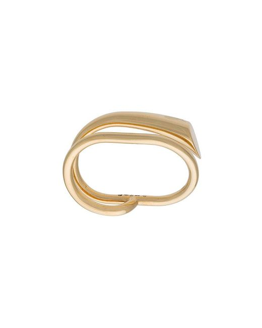 Charlotte Chesnais - Metallic Double Ring - Lyst