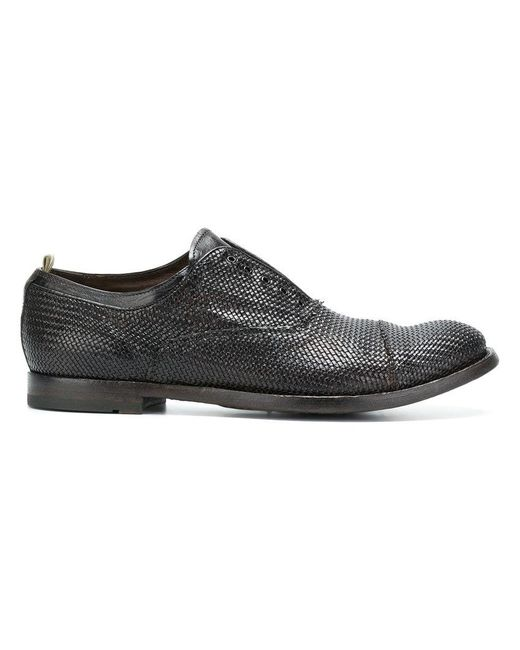 Officine Creative - Brown Lace Fastening Loafers for Men - Lyst