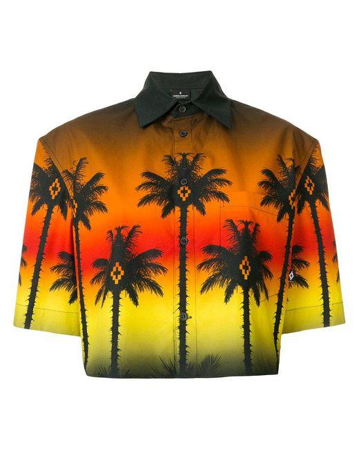 Marcelo Burlon - Multicolor Cropped Palm Tree Shirt - Lyst