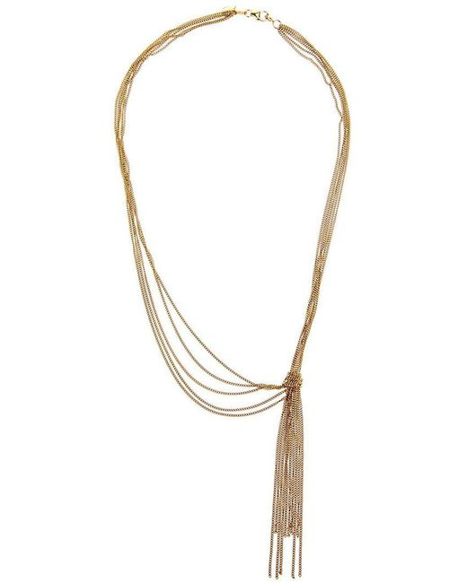 Wouters & Hendrix | Metallic 'knot' Tassle Necklace | Lyst