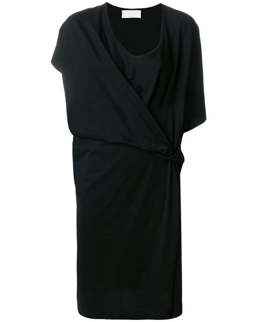Reality Studio - Black Knotted Shift Dress - Lyst
