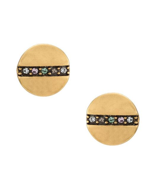Camila Klein - Metallic Strass Embellished Earrings - Lyst