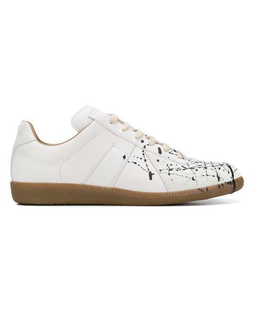 142bb5e199e4 Maison Margiela - White Paint Splatter Sneakers for Men - Lyst ...