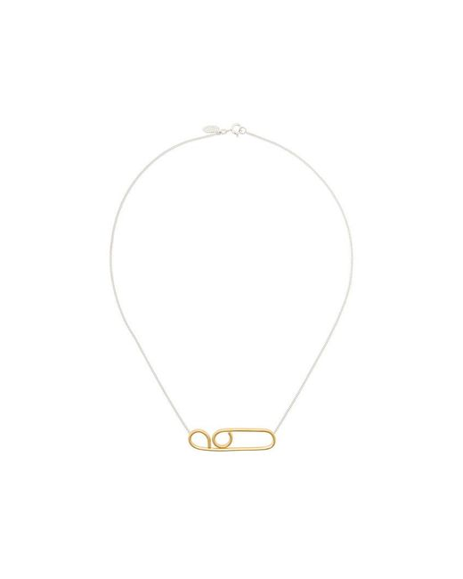 Wouters & Hendrix feather pendant necklace - Metallic GLTNtM