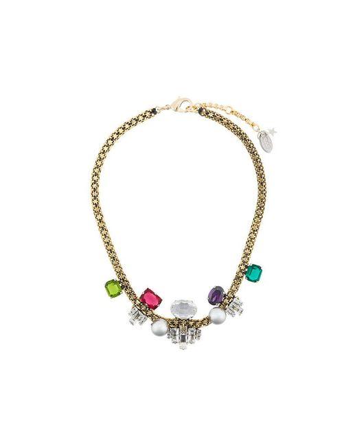 Rada' - Metallic Collana Decorata Con Pietre Preziose E Perle Sintetiche - Lyst
