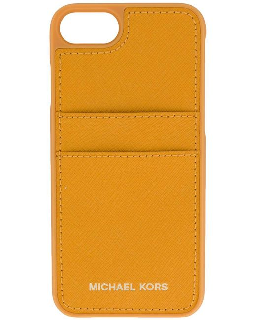 michael michael kors iphone 7 case with card slots lyst. Black Bedroom Furniture Sets. Home Design Ideas