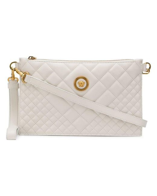 Versace - White Quilted Medusa Clutch Bag - Lyst ... 6cf4371116b04