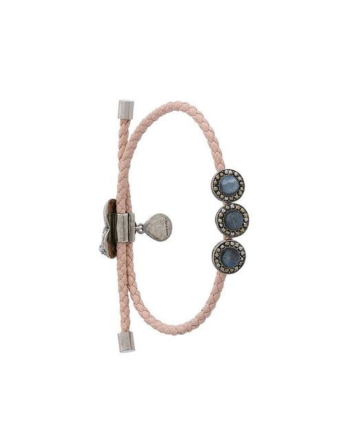 Alexander McQueen | Multicolor Embellished Leather Bracelet | Lyst