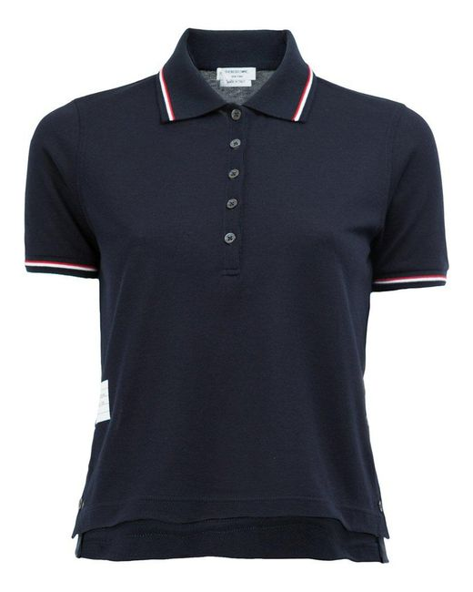 Thom Browne | Blue Cropped Polo Shirt | Lyst