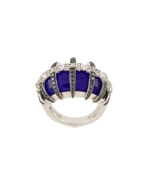 Stephen Webster - Metallic 18kt White Gold, Lapis Lazuli And Diamond Ring - Lyst