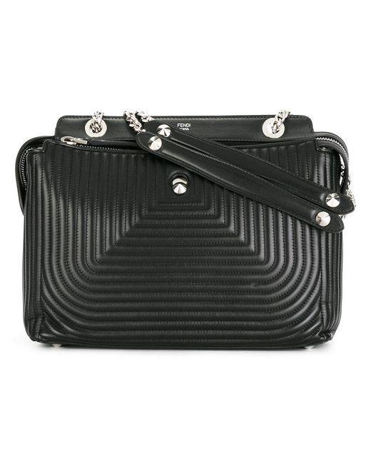 Fendi - Black Dot Com Shoulder Bag - Lyst