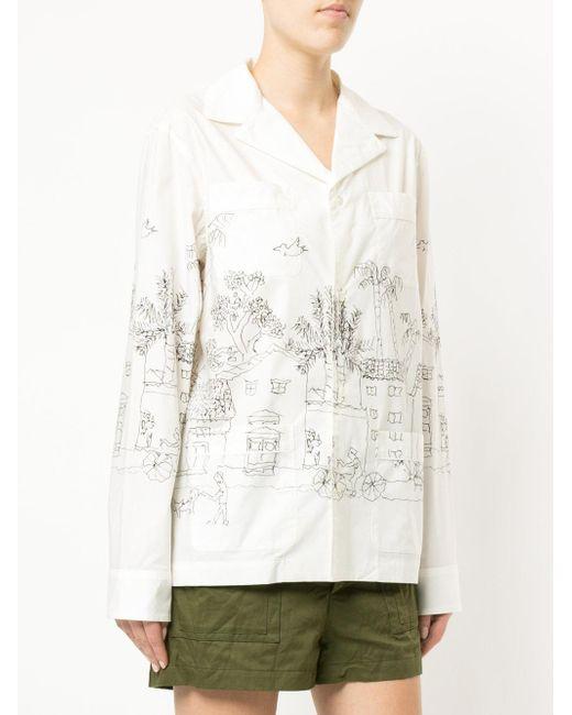 2f98e6c76d ... Marni - White Illustrated Pyjama Shirt - Lyst ...