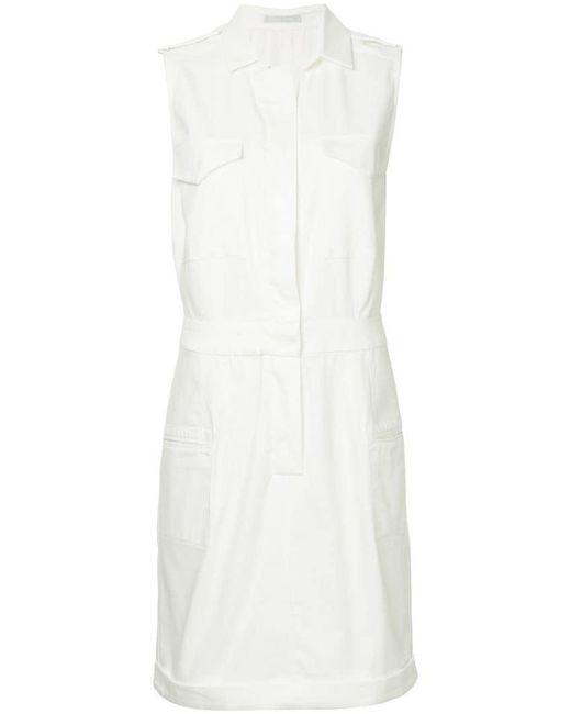 White Story - White Sophia Shirt Dress - Lyst