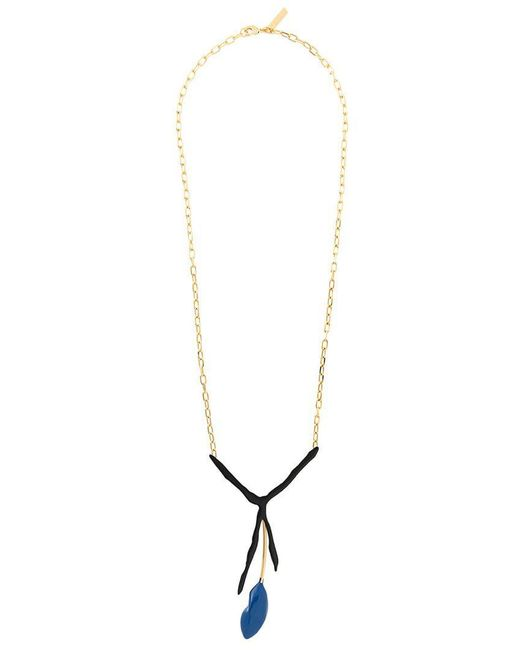 Marni - Metallic Abstract Pendant Necklace - Lyst