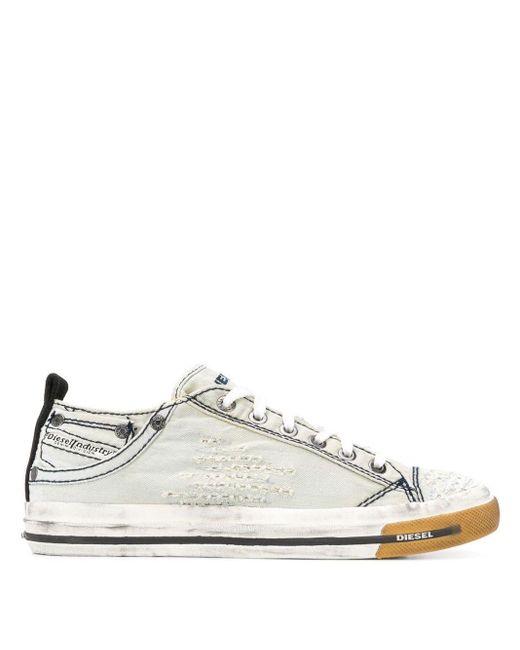 DIESEL Gray Low-top Sneakers