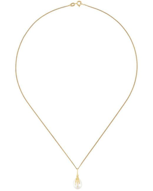 Wouters & Hendrix - Metallic 18kt Yellow Gold 'crow's Claw' Pearl Necklace - Lyst