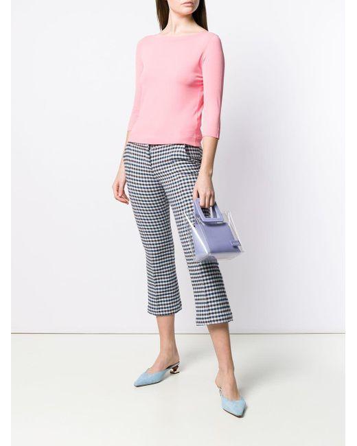 a2da91e3a ... Roberto Collina - Pink Fitted Sweater - Lyst ...
