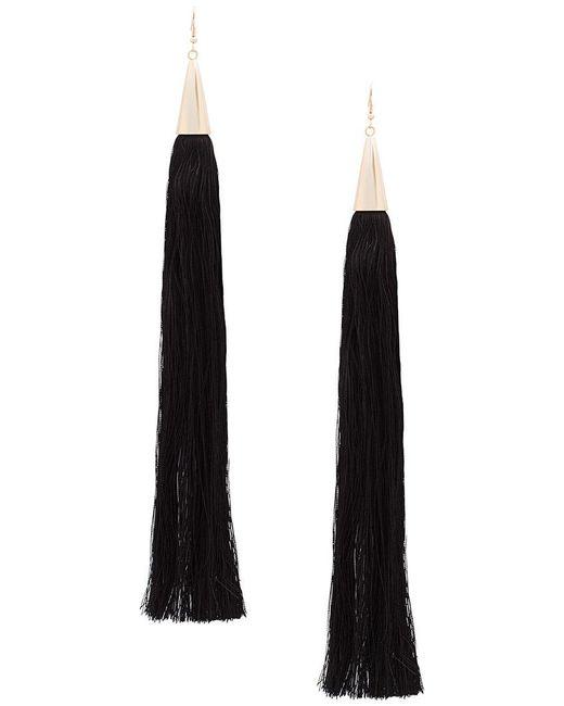 Eddie Borgo - Black Long Tassel Earrings - Lyst