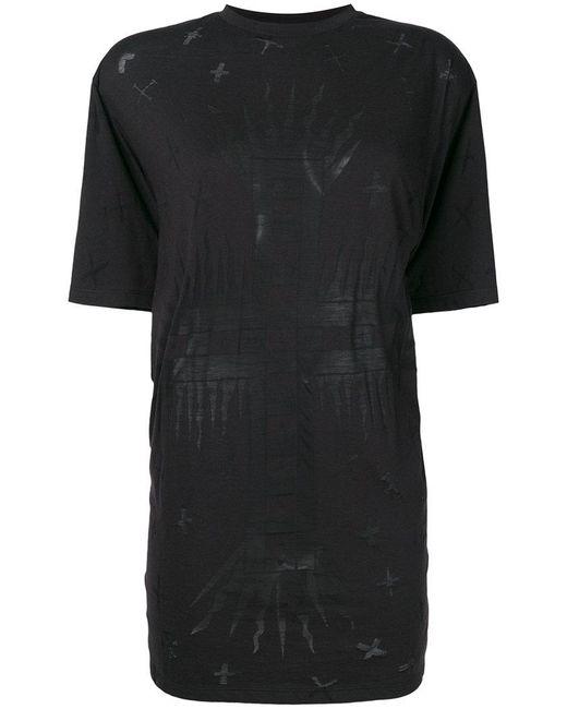 Fausto Puglisi - Black Printed Longline T-shirt - Lyst