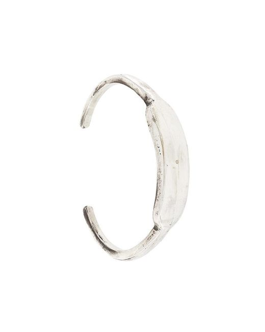 Henson | Metallic Large Carved Id Cuff for Men | Lyst