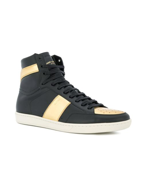 c598cecf4caf9 ... Saint Laurent - Black Signature Court Classic Sl 10h Sneakers for Men -  Lyst ...