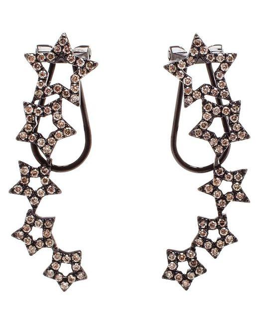 Rosa De La Cruz   Black Diamond Star Earrings   Lyst