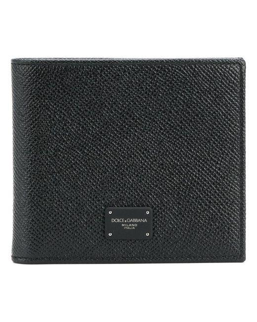 7fc0a1eeca Dolce & Gabbana - Black Logo Plaque Billfold Wallet for Men - Lyst ...