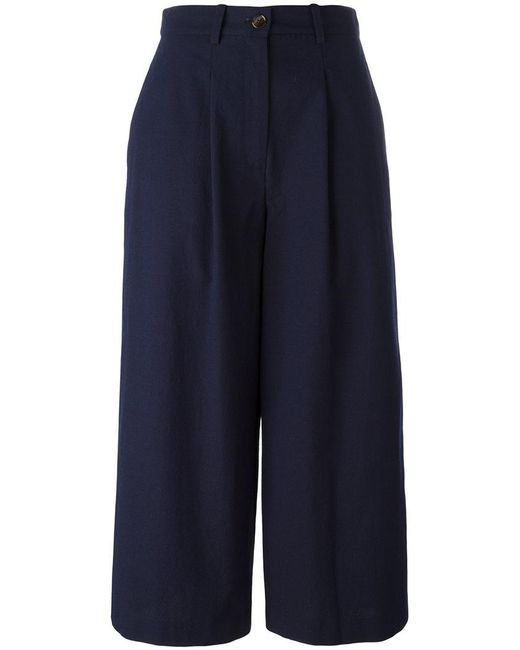 Erika Cavallini Semi Couture | Blue Tailored Culottes | Lyst