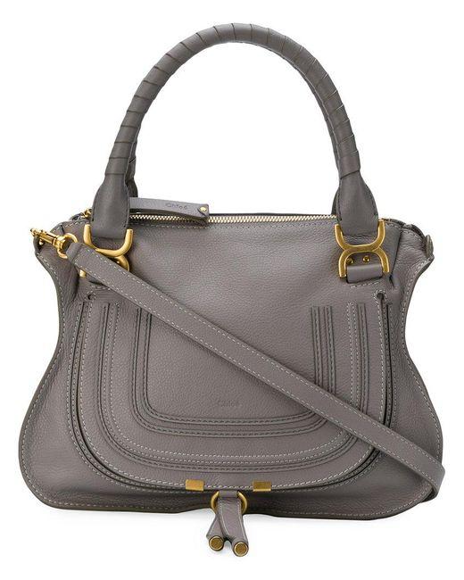 Chloé - Gray Marcie Tote Bag - Lyst