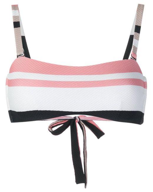 Beautiful Bottoms - Multicolor Bold Stripe Wrap Bikini Bandeau - Lyst