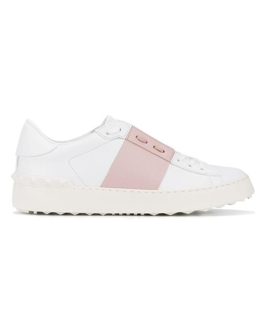 Valentino - White Garavani Open Colour Block Sneakers - Lyst