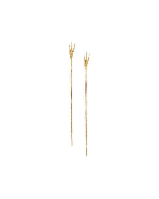 Wouters & Hendrix - Metallic 18kt Yellow Gold 'crow's Claw' Long Earrings - Lyst