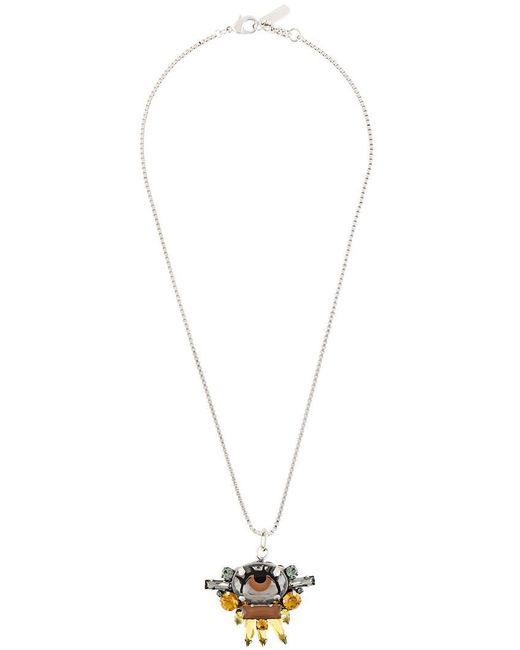 Rada' - Metallic Stone Embellished Pendant Necklace - Lyst